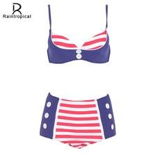 80192017d1dc 2019 Novo Maiô Cintura Alta Empurrar Para Cima do Biquíni Plus Size  Swimwear Mulheres Set Bikini