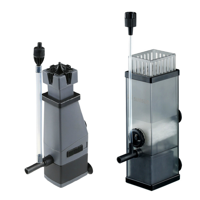Filtro de superficie de la bomba del Acuario de 5 W para eliminar la bomba del desnatador de la proteína del agua del removedor de la película del aceite para el tanque de peces bomba de filtro de agua