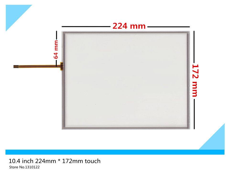 New 10.4 inch 4 wire 224mm*172mm Resistive Touch Screen Digitizer AMT9105 B touch panel Glass Freee shipping  цены