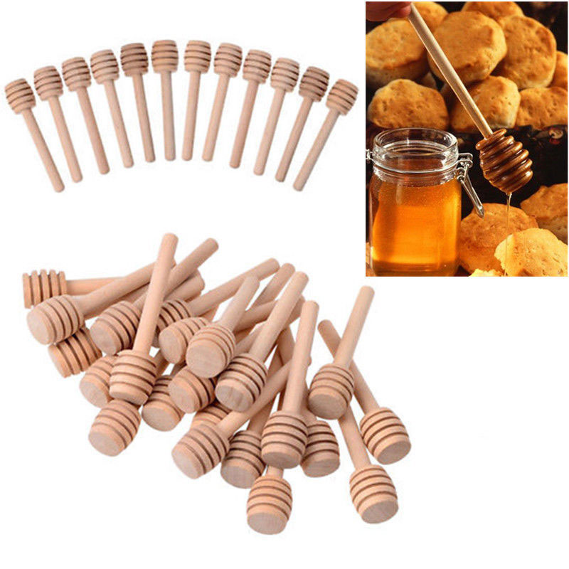 Campcookingsupplies Dedicated Honey Wooden Dipper Mini Stirring Rod Stick Spoon Wooden Honey Stick Party Supply Als88 Carefully Selected Materials
