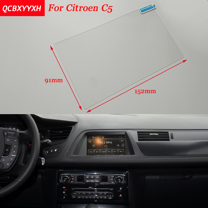 Car Sticker 7 Inch GPS Navigation Screen Steel Protective Film For Citroen C5 Control of LCD Screen Car Styling 7 inch gps lcd screen e navigation luhang x10 x9 display screen portable navigator in screen