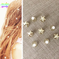 Classic Gold Plated Stars/Pearl Spirals Pins Mermaid Wedding Hair Accessories Bijoux