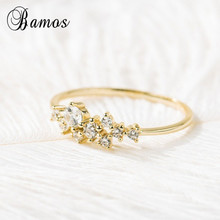 Bamos Minimalist Jewelry Gold Filled Cubic Zirconia Finger R