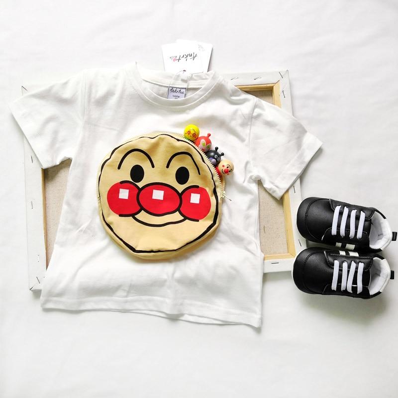 ANKRT 19 Summer New Kids 39 Bread Super Pocket T shirt Children 39 s Cotton Short Sleeve Top 2T 6T in T Shirts from Mother amp Kids
