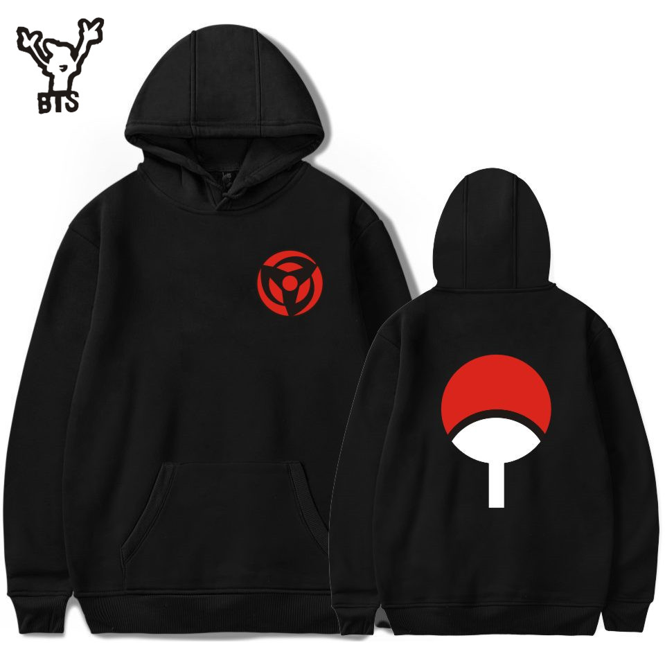 BTS Naruto Hoodies Sweatshirts Uchiha Syaringan Hooded Boys Fashion Hokage Ninjia Heren / dames Classic Cartoon printed kleding 4xl
