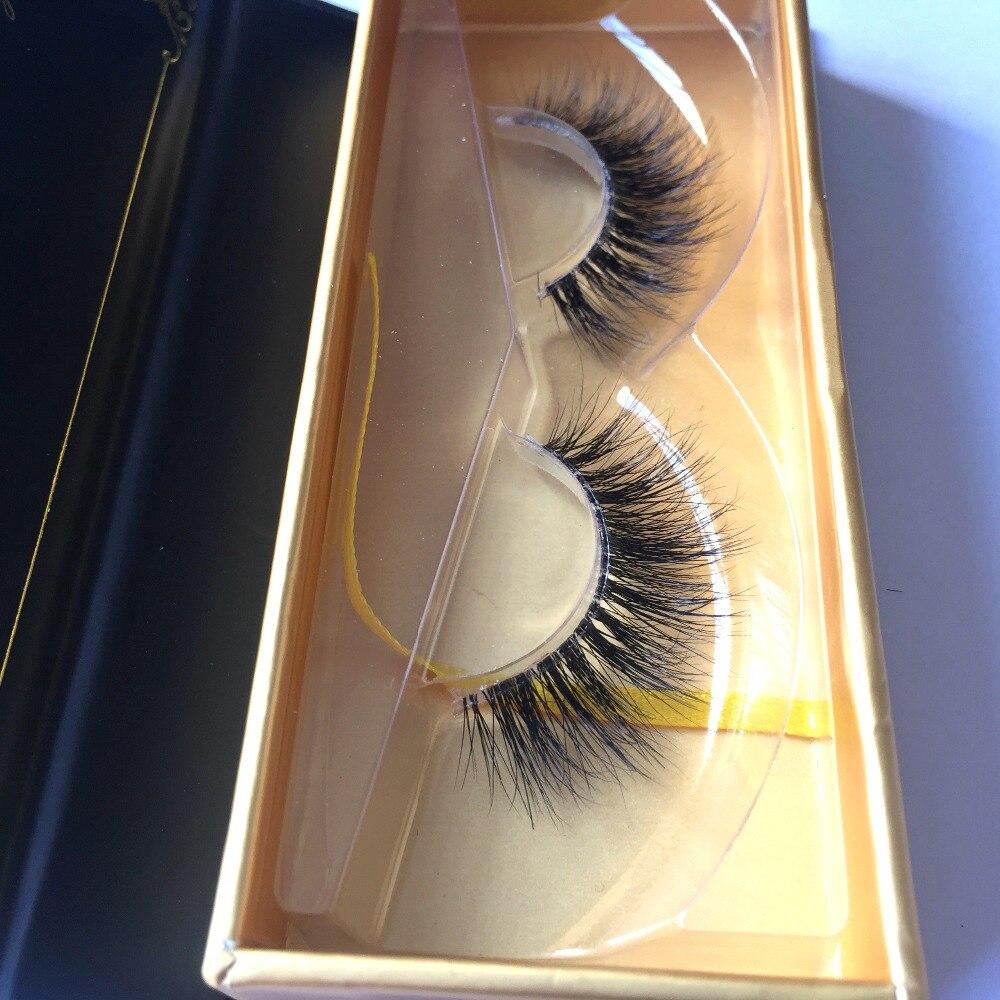 New Fashion Invisible Clear  Band 3D Mink Lashes HT038 Transparent Plastic Stalk Natural Long Fake False Strip Eyelashes