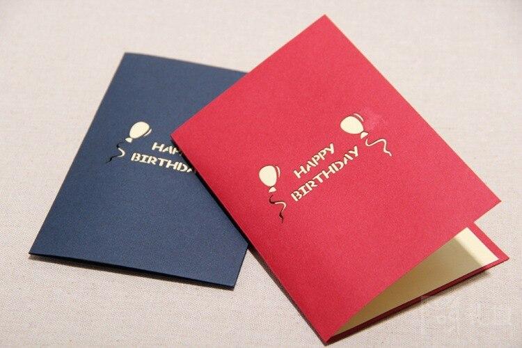 Diy Little Girls Handmade 3d Pop Up Greeting Cards Red Blue For