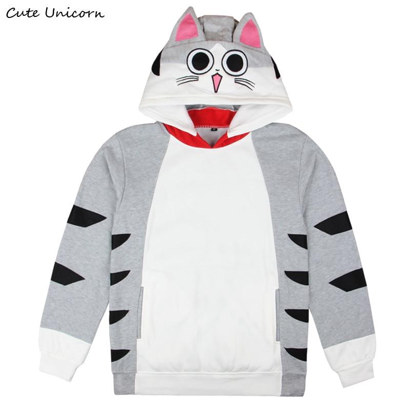 CUTE UNICORN Chis Sweet Home Cat Hoodies hood Sweater Pullovers long sleeve casual Blouse Shirts unisex hoodie sweatshirt