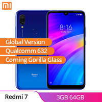 Global Version Xiaomi Redmi 7 3GB 64GB Android 9.0 Qualcomm 632 Octa Core WaterDrop Screen 3900mAh Mobile Phone