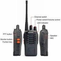 baofeng bf 888s Baofeng BF-888S מכשיר הקשר 5W UHF 400-470MHz Portable Baofeng 888S שני הדרך רדיו FM 16CH משדר CB Ham Radio Interphone (5)