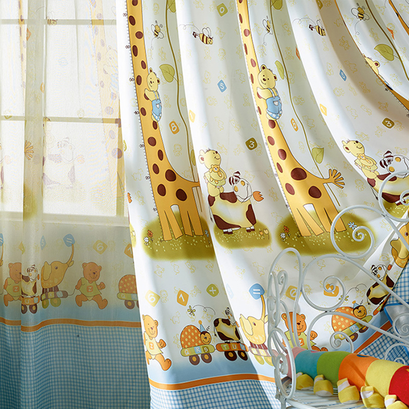 Kids Bedroom Blinds aliexpress : buy 2015 giraffe pattern modern shade blinds