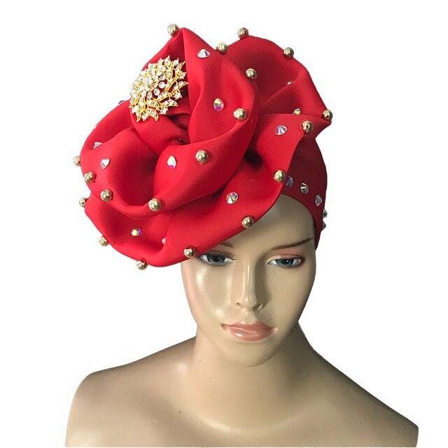كمية عالية الهند مسلم قبعات للحزب الزفاف الأفريقي حك لينة المخملية عمامة وشاح رئيس التفاف النساء حك 11 ألوان