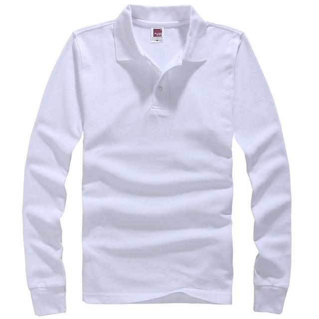 Hot Sale 2016 Fashion Brand Men polo shirt Solid Color Long-Sleeve Shirt Men Cotton polo Shirts Casual Shirts European Size 3XL