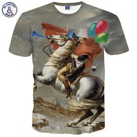 2017 Mr 1991INC New Fashion Men S T Shirt Summer Tops 3d Print Horse Knight Brand