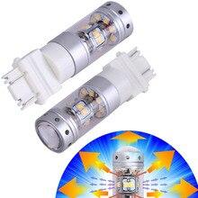 2x T25 3156 3157 Led Lights Лампы Белого 3057 3155 3357 3457 Сигналы поворота Резервного Хвост Лампы С Объективом Проектора 12 В Plug Play