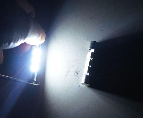 2x White Festoon Fuse 28-29MM 5050 3SMD Sun visor Vanity Mirror Light bulb 6614