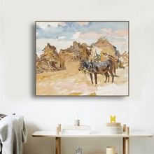 Ruins and Horses Famous Oil Paintings Wall Art Poster Print Canvas Painting Calligraphy Decor Picture for Living Room Home