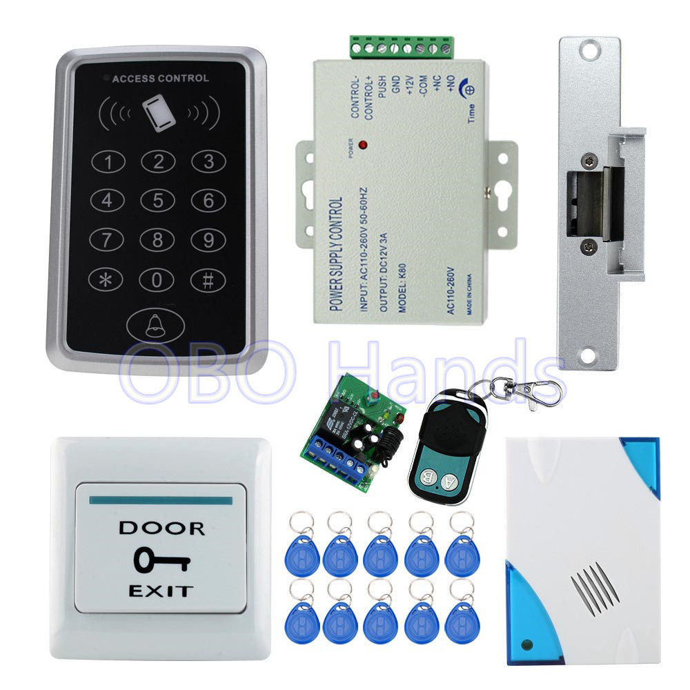 rfid 125khz access control door lock t11 electric strike lock 3a 12v power supply exit button. Black Bedroom Furniture Sets. Home Design Ideas