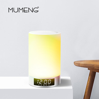 MUMENG USB Blutooth Speaker Night Light 1.5W Wireless kids room Bedside Table Lamp Music Alarm Clock Touch Dimmable Lighting