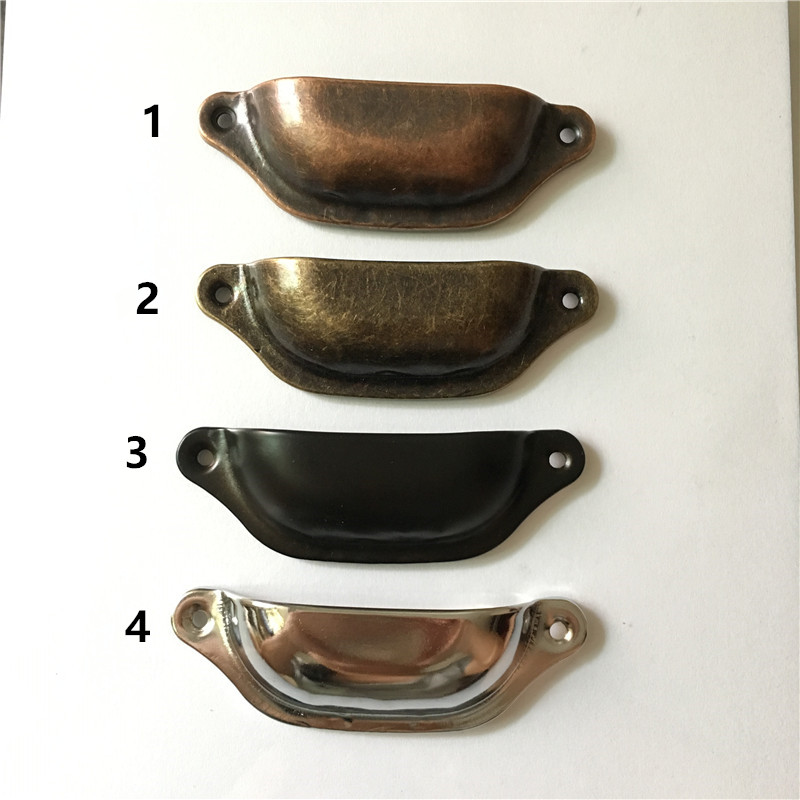 97mm Retro Metal Kitchen Drawer Cabinet Door Handle Furniture Knobs Hardware Cupboard Antique Brass Shell Pull Handles,2Pcs 100pcs metal kitchen drawer cabinet door handle furniture knobs hardware cupboard shell pull handles