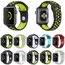 BRAND sport Silicone band strap for apple watch nike 42mm 38mm bracelet wrist band watch watchband For iwatch 3/2/1 Accessories