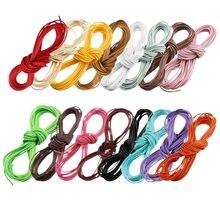 Sauvoo – corde en fil de coton ciré, multicolore, 1mm 2mm, pour bricolage, Bracelets à perles, collier, fabrication de bijoux, 10 mètres/lot