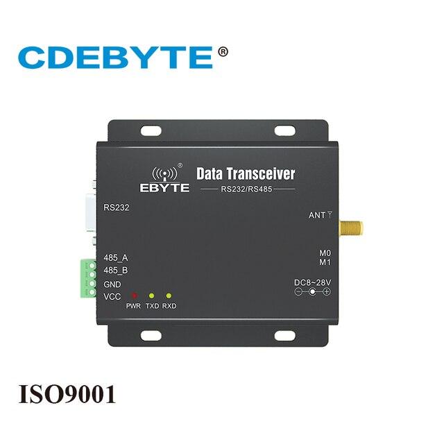 Modbus E90 DTU 433C37 transmisión continua de alta velocidad, medio dúplex, RS232 RS485, 433mhz, 5W IOT uhf Módulo Transceptor Inalámbrico