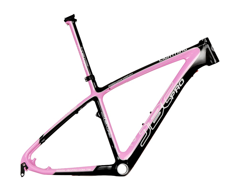 JBC Lightning Carbon MONOCOQUE MTB Frame with Seat Post and BB30 16 17 PINK браслеты kameo bis браслеты