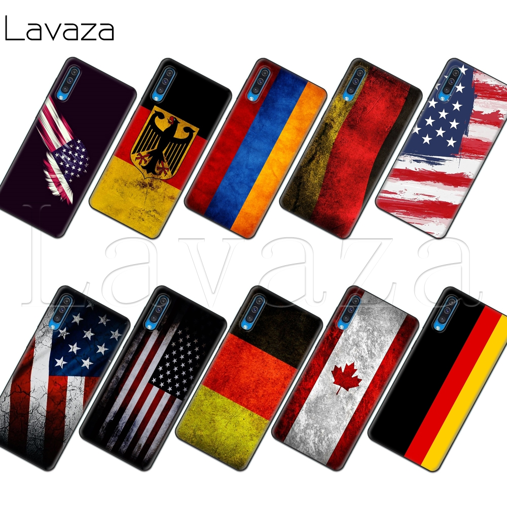 Lavaza Germany Flag Soft TPU Case for <font><b>Samsung</b></font> Note A3 A5 A6 A7 A8 A9 8 9 J6 <font><b>A10s</b></font> A20s A30s A40s A50s 10 A70 Plus image