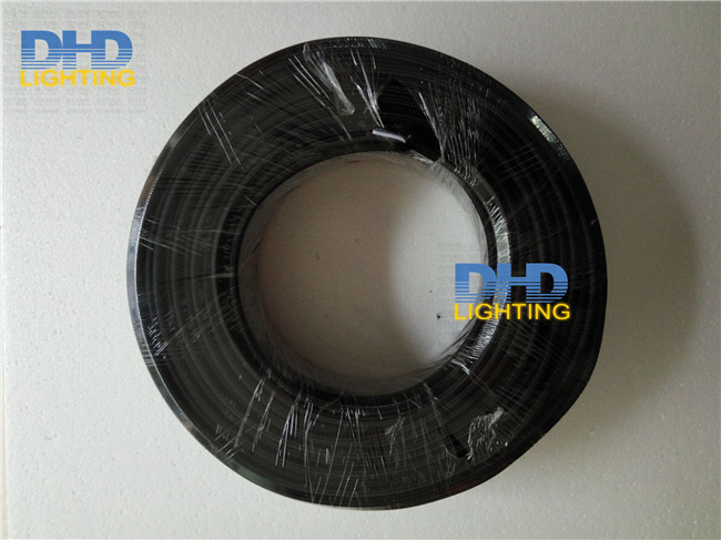 Black color 100M roll White black inside 2 coresX0 82mm UL certificate 18AWG fabric wire Vintage