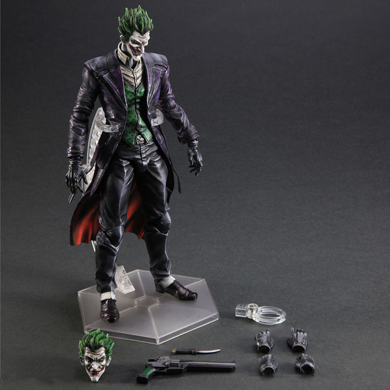 25cm Play Arts Kai Movable Figurine Batman Joker PVC Action Figure Toy Doll Kids Adult Collection Model Gift 27cm play arts kai movable figurine superhero thor odinson pvc action figure toy doll kids adult collection model gift