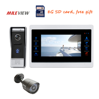 Free Shipping 720P AHD HD 7 Color Screen Video Intercom Door Phone Unlock System Record Monitor