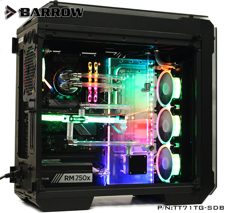Barrow Acrylic Board Water Channel use for Tt View 71 TG/TG RGB Computer Case for CPU and GPU Block RGB 5V 3PIN Waterway Boards цена и фото