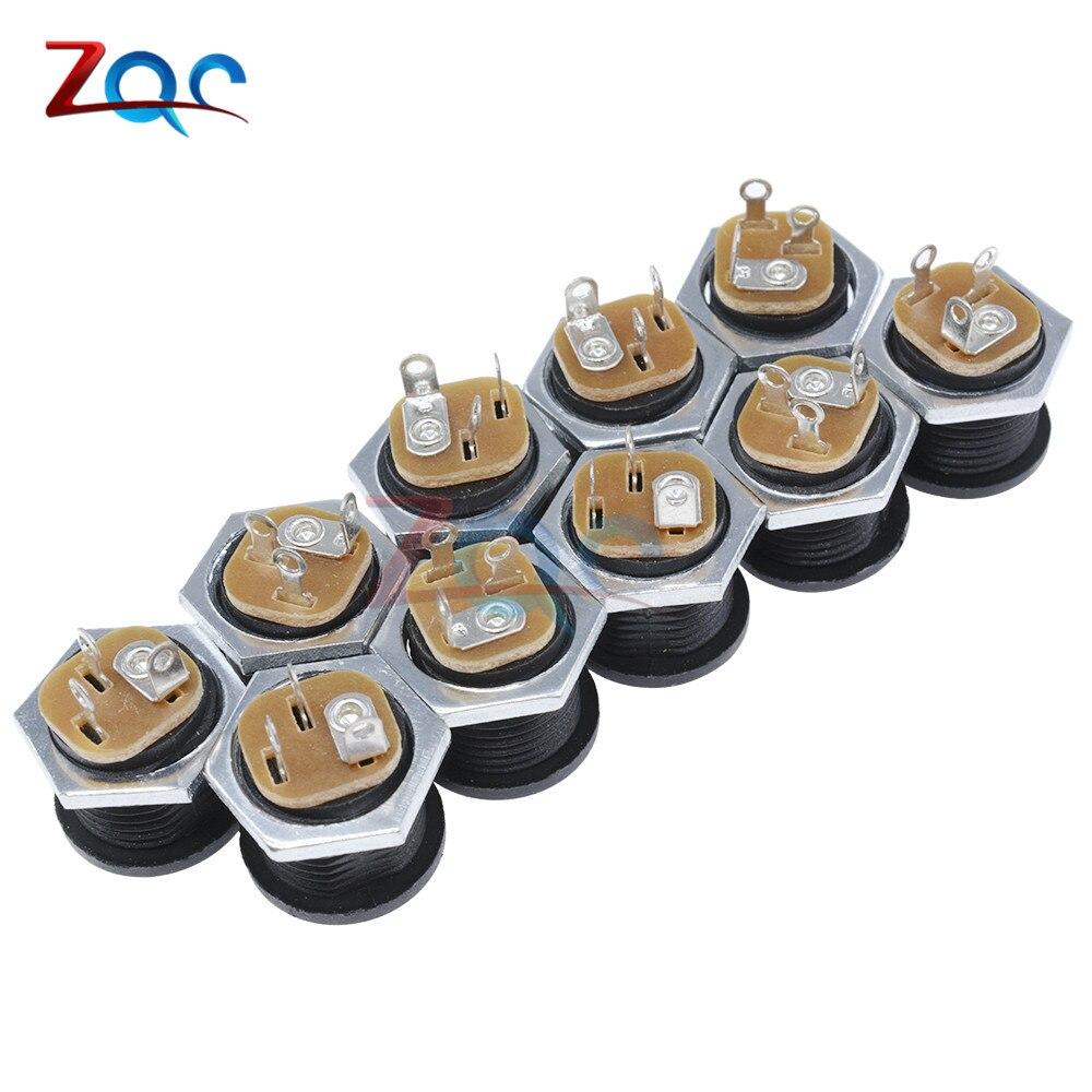 10 шт. DC контакт разъема питания 2,1x5,5 мм Гнездовой разъем Jack+ штекер Jack гнездо адаптер PCB Крепление DIY разъем адаптера 2,1X5,5 - Цвет: Female Jack 10 type3