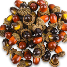 100PCS Simulation Plant Acorn Artificial Mini Nuts Autumn Harvest Decorative Fake Pine Cone Home Decor Photography Props