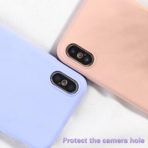 Image 2 - Simple Couleure bonbon Téléphone étui pour iPhone XS MAX X XR 7 8 Plus étui arrière souple en silicone or polyuréthane thermoplastique Pour iPhone 6 6 s Plus NOUVELLE Mode Capa