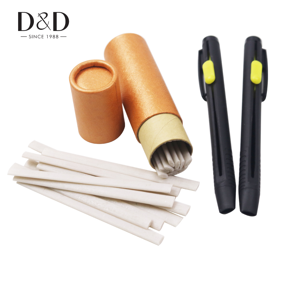 1 Set Tailors Chalk Pen Pencil Invisible Marking Chalk for Sewing Dressmaking Marking on Fabric Cloth