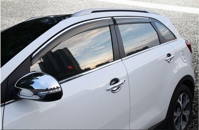 Car Door Window Visor Wind Rain Sun Guards Visor Vent Trims for KIA SPORTAGE  R 2010 2011 2012 2013 2014 2015   KX5 2016 2017 c1d8f8b98f7