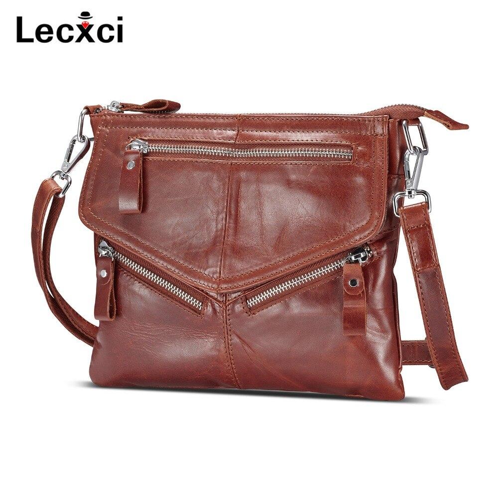 Lecxci Для женщин из мягкой натуральной кожи Crossbody Сумки, Для женщин плеча сумки молния Путешествия Crossbody сумки кошельки Для женщин