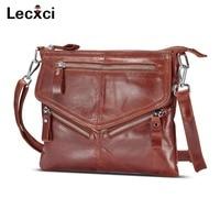 Lecxci Women S Soft Genuine Leather Cross Body Handbags Zipper Travel Crossbody Bags Purses For Women
