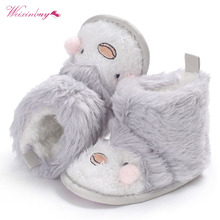 New baby shoes Newborn Faux Fleece Bootie Winter Warm Infant Toddler Crib Shoes Classic Floor Boys Girls Boots