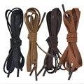 Plano Waxed colorido cadarço 8 mm largura Unisex Shoestrings cabo 100% algodão barato Long Lace sapatos coloridos 120 cm frete grátis