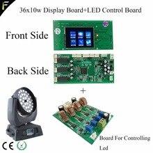 Uma substituição placa de exibição da placa mãe led lavagem movente cabeça 36x10 w 4in1 com zoom placa principal e placa de controle led