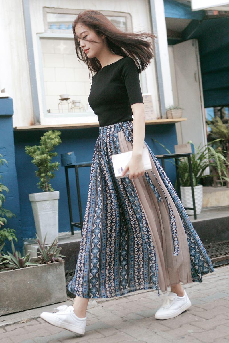 Юбка миди Faldas Real Rushed из натурального хлопка с принтом до середины икры, Женская юбка, бесплатная доставка, осень 2020