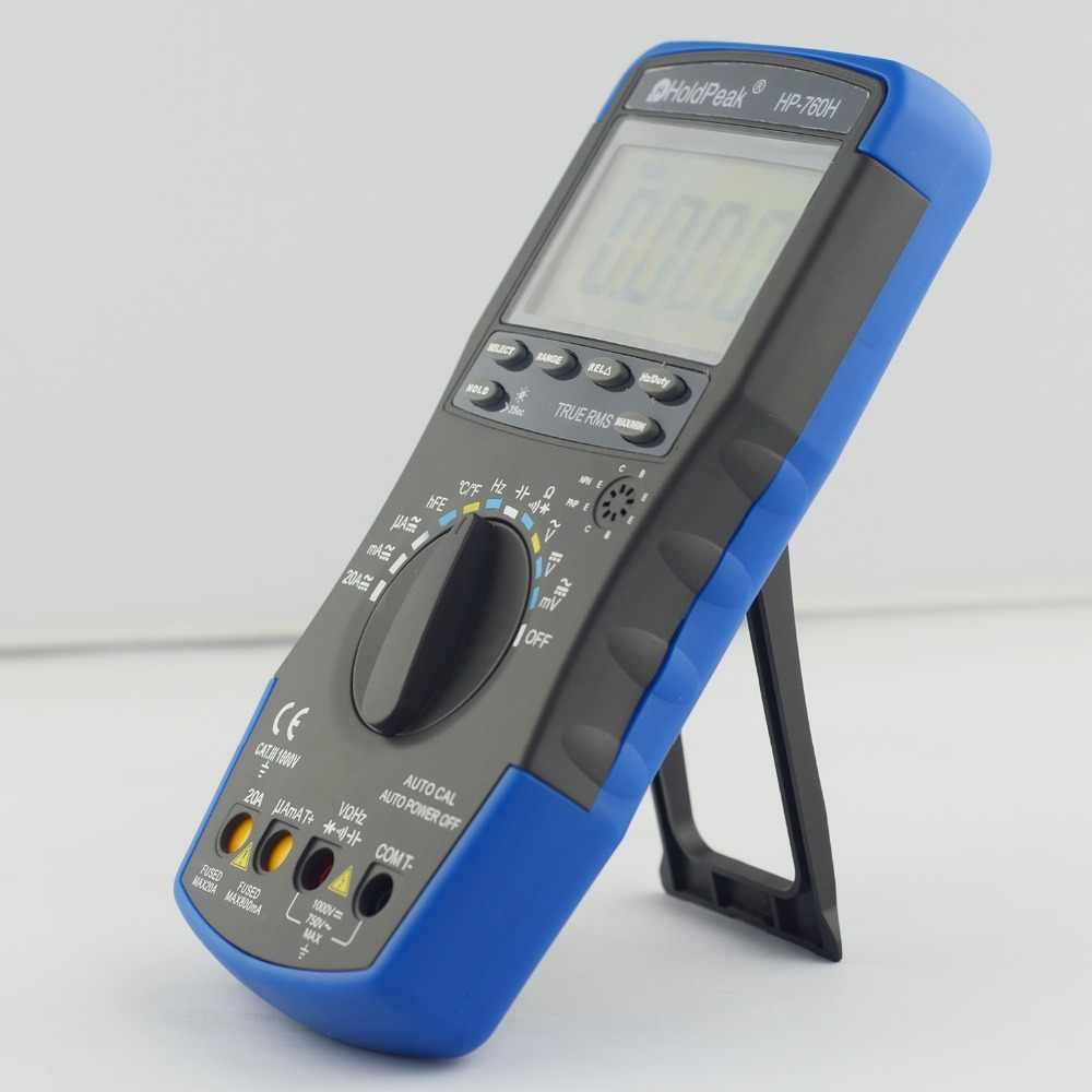 Holdpeak HP-760D True RMS Auto Mulai Digital Multimeter Meter dengan Min/Max Nilai Frekuensi Cuty Siklus Ohm Tester Amp Multimetro