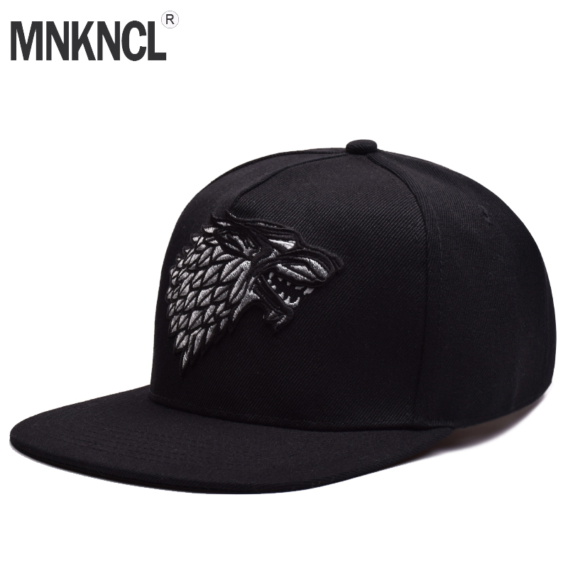 Wolf Hat Snapback Baseball Caps A Song Of Lce And Fire Winter Is Coming Hat Game Of Thrones House Stark Winterfell Embroid Hats hot novel a song of ice and fire the game of thrones american drama extension war is coming theme pocket watch