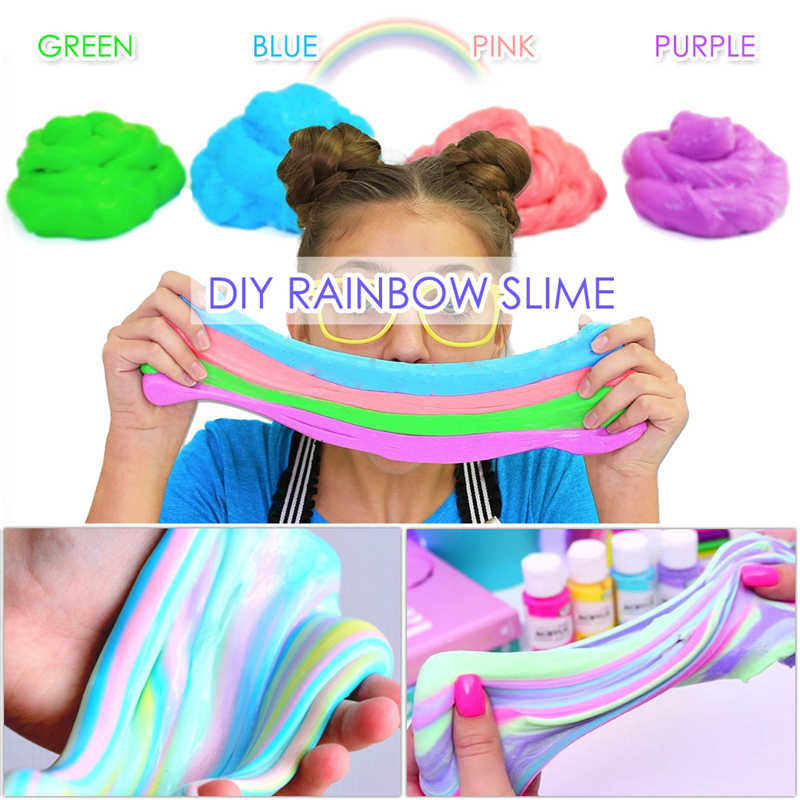 Fluffy foam  slime clay ball supplies DIY mixed color mucus fruit set cloud technology anti-stress children's toys