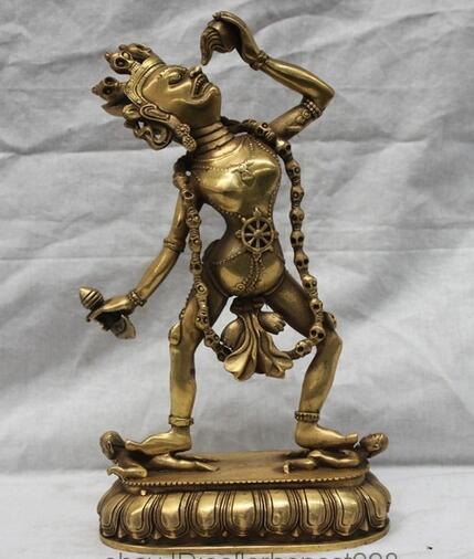 Tibet Buddhist Fane Brass Copper Vajrayogini Vajravarahi Dakini Buddha Statue  statue