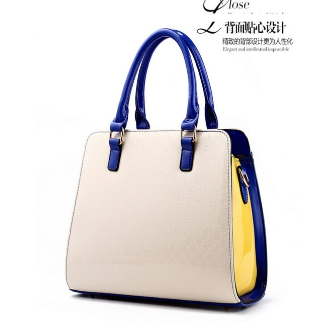 100% Genuine leather Women handbags 2017 New tide bag color smile package bear Crossbody Shoulder Handbag
