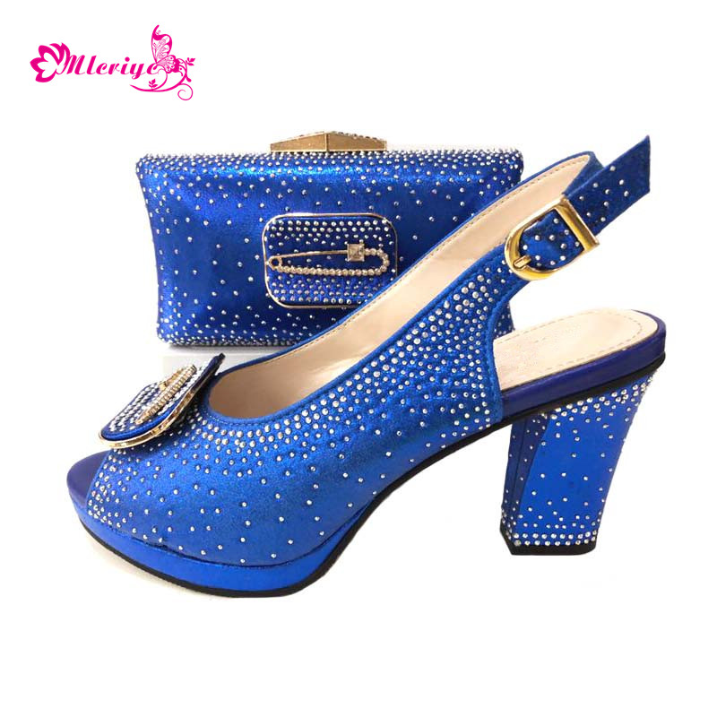 664-8 Italian Shoes and Bag To Match blue Color Shoes with Bag Set Nigerian Shoes and Matching Bag African Wedding Shoes capputine african style shoes and bag to match high quality italian shoes and bag set nigerian party shoe and bag set wedding
